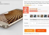 [AliExpress] Metal Aluminum Bumper For Samsung Galaxy Note 5 N9200 Ginmic Metal Frame ($10.98/무료)