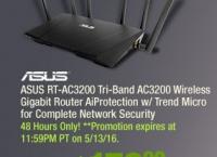 [Newegg] ASUS RT-AC3200 Tri-Band AC3200 Wireless Gigabit Router($179.99/FS)