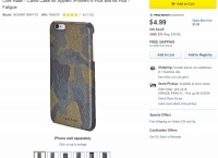 [bestbuy]Cole Haan -Camo Case for Apple® iPhone® 6/6plus/samsung s6 - Fatigue($4.99/$5.49/$35이상 free )