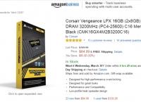 [amazon]Corsair Vengeance LPX 16GB (2x8GB) DDR4 DRAM (PC4-25600) C16 Memory Kit($84.99/fs)