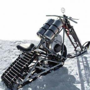 겨울엔 이런 오토바이를 타고....