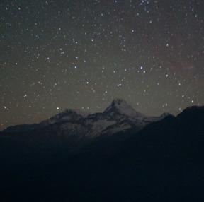 히말라야 밤하늘