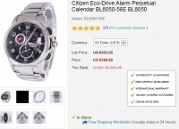 [Creationwatches] Citizen Eco-Drive Alarm Perpetual Calendar BL8050-56E  ($189.05/한국까지무료)
