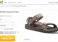 [woot] (샌달) Teva - 1004006 Men's Original Universal Sandal 외($19.99, $5)