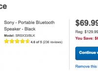 [bestbuy] Sony SRS-X33 Portable Wireless Bluetooth Speaker ($69.99, free)