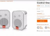 [jbl] JBL Control One Indoor/Outdoor Bookshelf Speakers ($59.99/free)