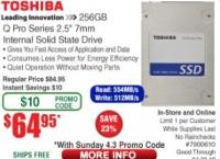 (미리올림)[Frys] Toshiba Q Series Pro 256GB ($64.95/ 미국내 무료)