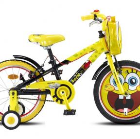 스펀지밥 어린이 자전거 ㅋㅋ