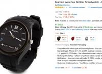 [amazon] Martian Watches Notifier Smartwatch - Black ($29.33/prime fs)