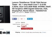 [tigerdirect] Lenovo ThinkServer TS140   i3-4150 (199.99/fs)