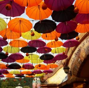 에버랜드 할로윈 컨셉 우산들~~
