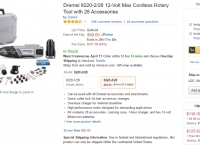 [amazon] Dremel 8220-2/28 12-Volt Max Cordless Rotary Tool with 28 Accessories ($89 / 프라임 FS)