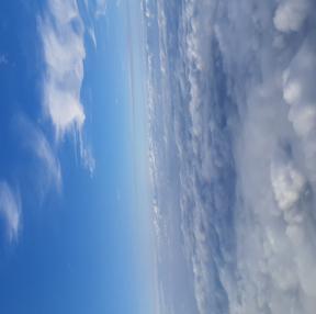 비행기에서 하늘
