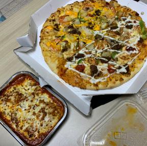 맛있는 피자 야놀자 덕에 공짜로 뇸!