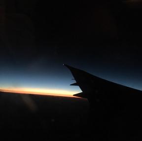 비행기 야경