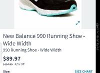 [Hautelook] New Balance 990 Running Shoe aquamarine ($89.97/$7.95-$100이상 fs)