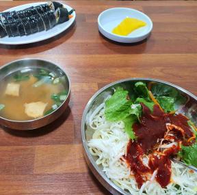 쫄면+김밥