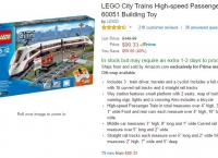 [AMAZON] LEGO City High-speed Passenger Train 60051 ($90.33,Prime member only)