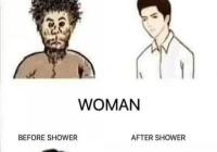 남자와 여자의 씻기전후