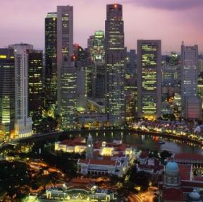 싱가포르 야경 아름답네요