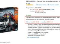 [독일아마존] LEGO Technic 42043 Mercedes-Benz Arocs (142.77유로/34유로)