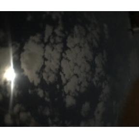 구름이 이쁘네여