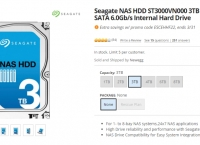 [Newegg] Seagate NAS HDD ST3000VN000 3TB 64MB Cache SATA 6.0Gb/s Internal Hard Drive (106.99 -> 89.99 / 무료)